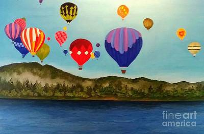 Painting - Up Up We Go by Peggy Miller