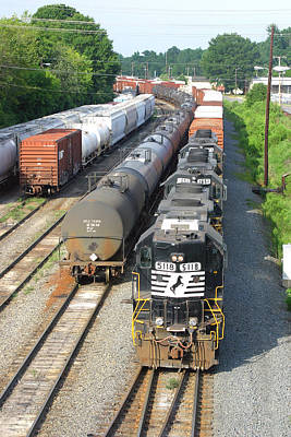 Photograph - Norfolk Southern Gp38-2 5118 From Above by Joseph C Hinson Photography