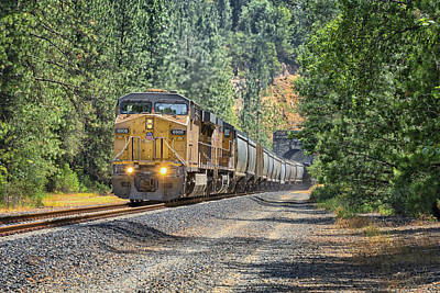 Photograph - Up6907 Eastbound From Tunnel 27 by Jim Thompson