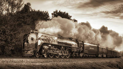 Photograph - Union Pacific #844 Under Steam by James Barber