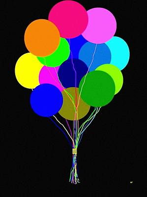 Digital Art - Upbeat Balloons by Will Borden