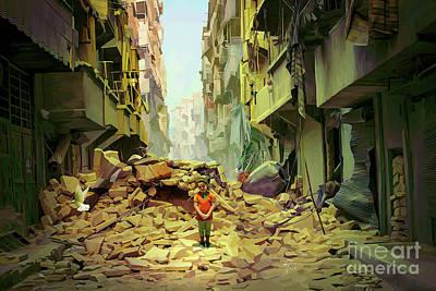 Syria Painting - Upcoming Hope 2 by Imad Abu shtayyah