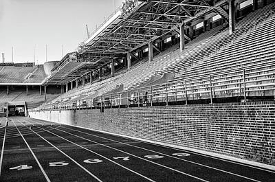 Franklin Field Photograph - Upenn - Franklin Field In Black And White by Bill Cannon