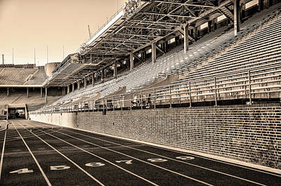 Franklin Field Photograph - Upenn - Franklin Field In Sepia by Bill Cannon