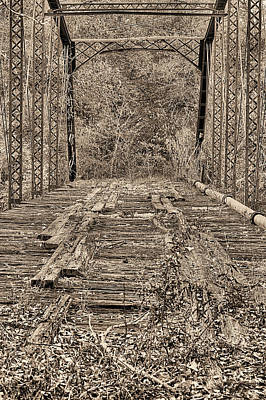 Photograph - Uphapee Creek Bridge Sepia by JC Findley