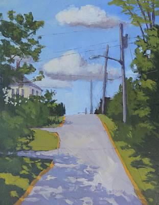 Painting - Uphill - Art By Bill Tomsa by Bill Tomsa