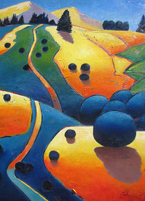 Abstract Shapes Janice Austin - Uphill Climb Revisited. by Gary Coleman