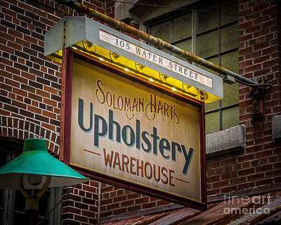 Upholstery Sign Art Print by Perry Webster