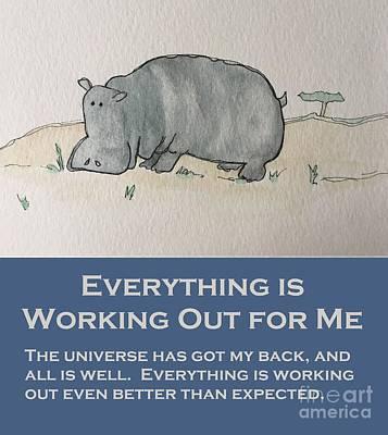 Painting - Uplifting Hippo by Tonya Henderson
