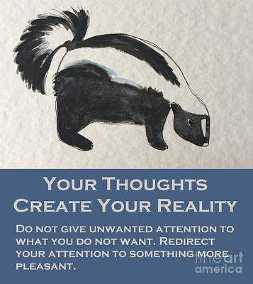 Painting - Uplifting Skunk by Tonya Henderson