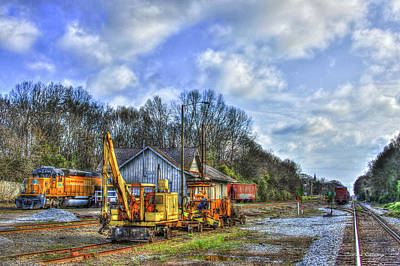Photograph - The Upkeep Railroad Track Maintenance Equipment Art by Reid Callaway