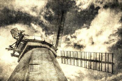 Photograph - Upminster Windmill Vintage by David Pyatt