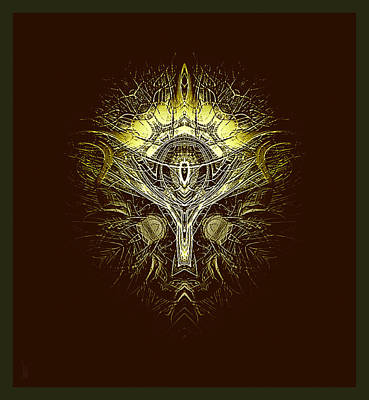 Yggdrasil Painting - upon a Mythical Tree... the Yggdrasil by Lee Haxton