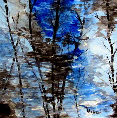 Wall Art - Painting - Upon Reflection by Mary Arneson