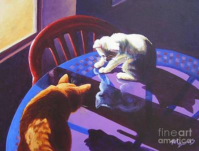Art Print featuring the painting Upon Reflection by Pat Burns
