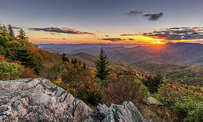 Photograph - Upon This Rock Blue Ridge Mountains by Donnie Whitaker