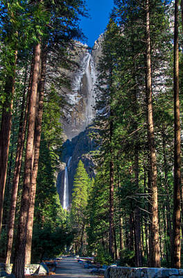 Photograph - Upper And Lower Yosemite Falls by Connie Cooper-Edwards