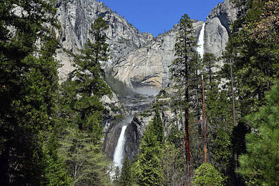 Photograph - Upper And Lower Yosemite Falls by Harvey Barrison
