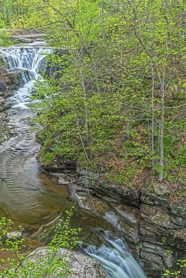 Photograph - Upper And Middle Falls At Mine Kill State Park by Angelo Marcialis