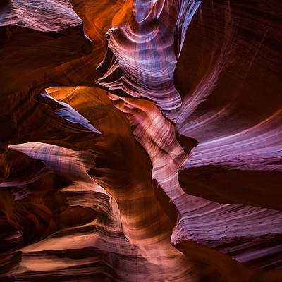 Upper Antelope Canyon Print by Larry Marshall