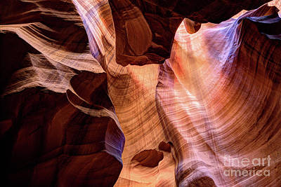 Photograph - Upper Antelope Canyon Page Arizona by Wayne Moran