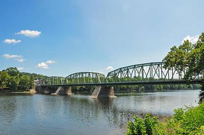 Upper Delaware River Photograph - Upper Black Eddy - Milford Bridge by Bill Cannon