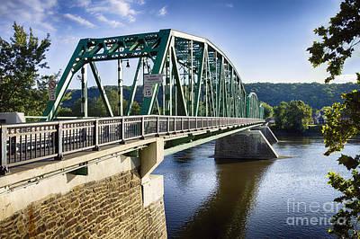 Upper Black Eddy Milford   Bridge Over The Delaware River Art Print