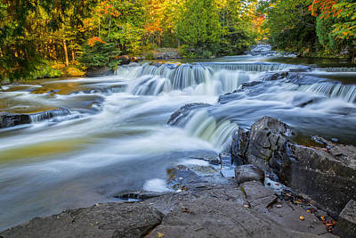 Photograph - Upper Bond Falls by Jack R Perry