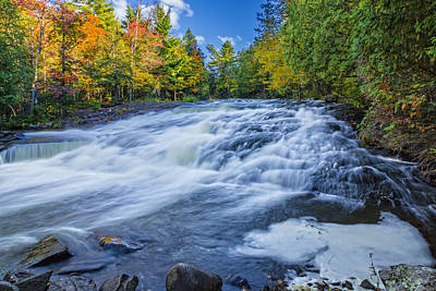 Photograph - Upper Bond Falls Rapids by Jack R Perry