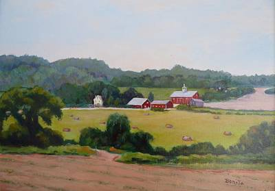 Painting - Upper Bucks County Farm by Bonita Waitl