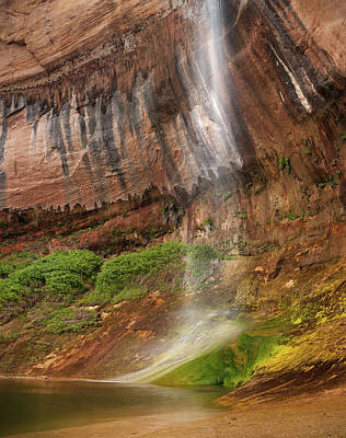 Photograph - Upper Calf Creek Falls by Leland D Howard