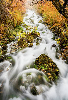 Of Autumn Photograph - Upper Cascades At Cascade Springs by TL Mair