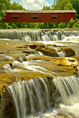 Photograph - Upper Cataract Falls Portrait View by Adam Jewell