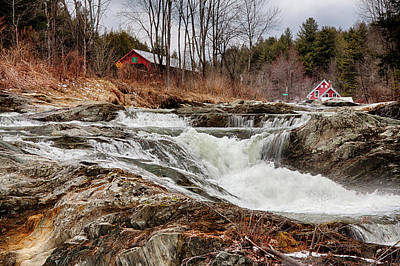 Photograph - Upper Cox Brook Fall Covered Bridge by Jeff Folger