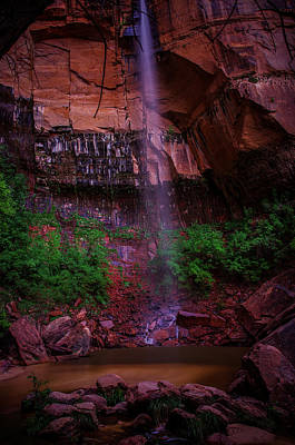 Red Sandstone Photograph - Upper Emerald Pools Fall Zion National Park by Scott McGuire