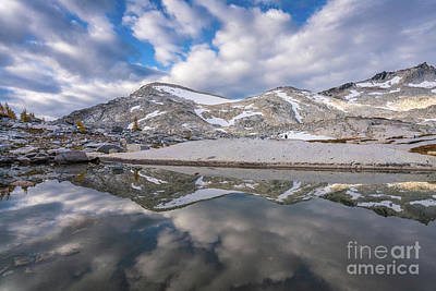 Photograph - Upper Enchantments Clouds And Sky Reflected by Mike Reid