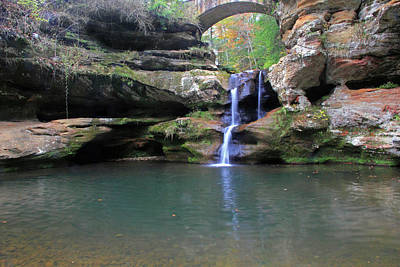 Photograph - Upper Falls At Hocking Hills by Angela Murdock