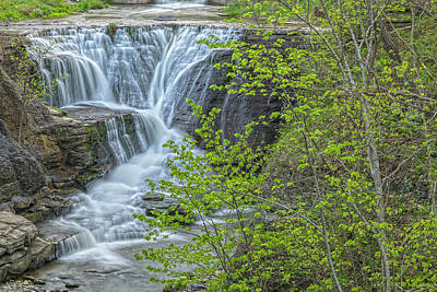 Photograph - Upper Falls At Mine Kill State Park by Angelo Marcialis