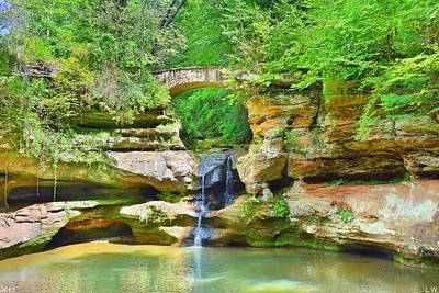 Photograph - Upper Falls At Old Man's Gorge 2 by Lisa Wooten