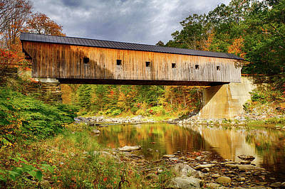 Photograph - Upper Falls Covered Bridge by Jeff Folger