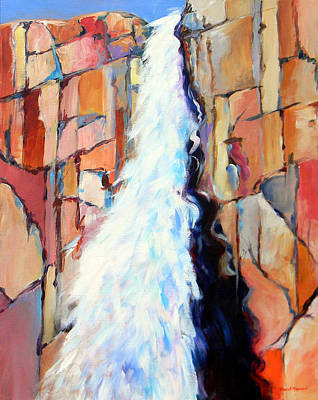 Painting - Upper Falls by David  Maynard