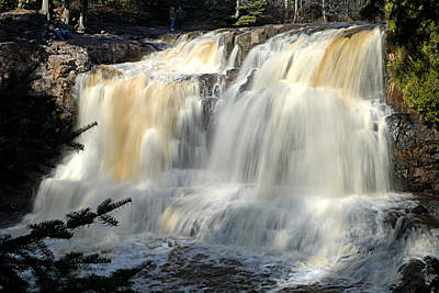 Photograph - Upper Falls Gooseberry River by Larry Ricker