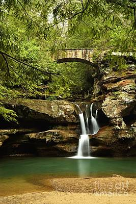 Photograph - Upper Falls, Hocking Hills State Park by Larry Ricker
