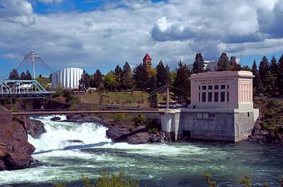 Upper Falls Of Spokane Art Print by Daniel Hagerman