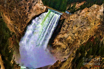 Photograph - Upper Falls Of The Yellowstone  by Blake Richards