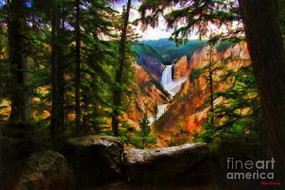 Photograph - Upper Falls Of The Yellowstone River by Blake Richards