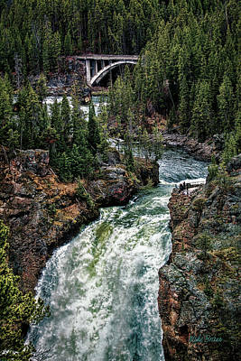 Photograph - Upper Falls Of The Yellowstone River by Mike Braun