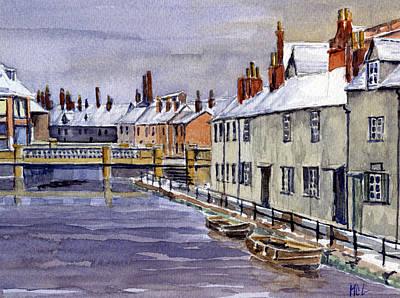 Upper Fisher Row. Vanishing Oxford. Art Print