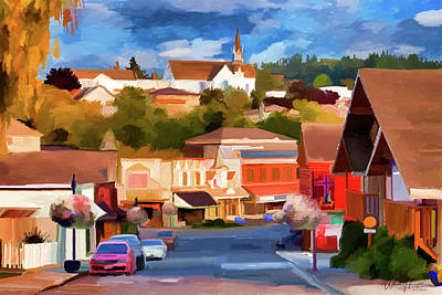 Painting - Upper Front Street  Poulsbo  Wa by Wally Hampton