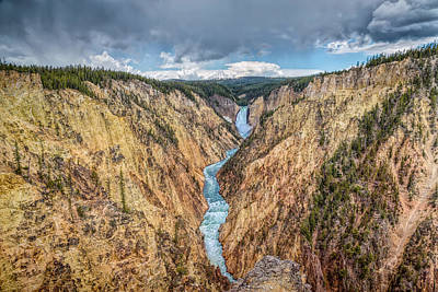 Photograph - Upper Grand Canyon Of The Yellowstone by John M Bailey